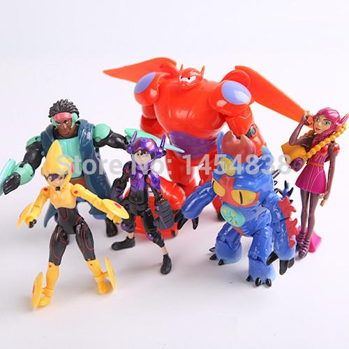 Marvel Movie 8cm Beast Corps Garage Kits Big Hero 6 Baymax PVC Minion Toys Pocoyo Super Heroes Fat Machine Transformation Robot(China (Mainland))