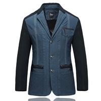 UDOD High Quality Spring & Summer Mens Blazers Slim Fit Stylish Patchwork Men's Casual Suits Jacket Cotton  L XL XXL XXXL EB5402