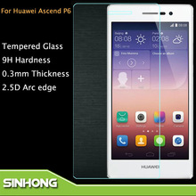 Mobile Phone Protect Film For Huawei Ascend P6 Tempered Glass Screen Protector