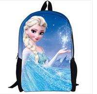 2015 new Elsa Children School Bags, Children's cartoon book bag, Elsa & Anna Schoolbag, school children gifts.