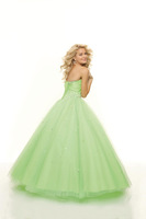 2015 Prom Dresses Tulle Ball Gown Natual Waist Floor-length Sweetheart mint green Prom Gown