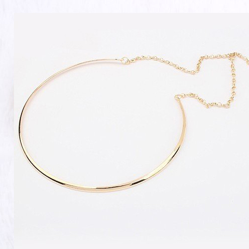 New hot sale Fashion Simple Personality Punk Plating Gold Silver Choker Necklace Statement jewelry for women