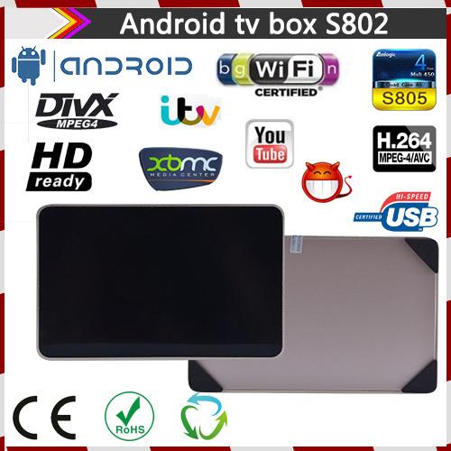 Amlogic S802 Android TV Box Quad core 2G/8G Mali450 XBMC GPU 4K HDMI 2.4G/5G Dual WiFi Mini PC Smart TV With Remote Controller(China (Mainland))