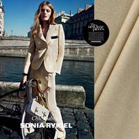 Japan's original Beige herringbone wool suit jacket fabrics Fashion 100% wool fabric soft  warm  herringbone suits of fabrics