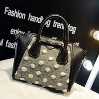 Bags winter fashion 2015 women's handbag smiley bag bow shoulder bag