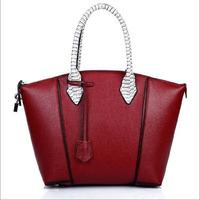 New 2015 women vintage messenger bags with snake skin pattern handle Ladies fashion handbags brand designer casual shulder bags