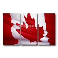 3 peça pintura branco e vermelho preto na parede lona de arte canadá bandeira nacional fotos imprimir abstrato(China (Mainland))