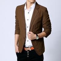 2015 Casual Blazer Men Fashion Plus Size Business Slim Fit Jacket Suits Blazer Coat two Button Suit Man Suit jacket FreeShipping