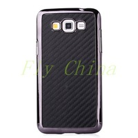 Case For Samsung G7200 ,For Samsung Galaxy Grand 3 G7200 Carbon Fiber Pattern Leather Coated Hard Shell 7 colors Free Shipping