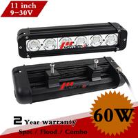 11 Inch 60W CREE LED Work Light Bar 12V 24V IP67 Fog Light For OffRoad Tractor ATV LED Worklight External Light Save on 80W 120W