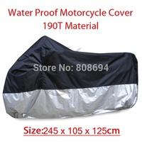 Universal New Motorcycle Cover For Suzuki Hayabusa GSX1250FA GSX1400 GZ250 Black