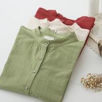 blusas femininas 2015 spring new long-sleeved cotton blouse collar loose, casual wild women blouses  roupas femininas