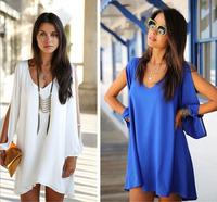 Summer Women Dress Fashion Women's Mini Dress Ladies's Sexy Vestidos Plus Size Casual Dress Elegant Casual Free Shipping