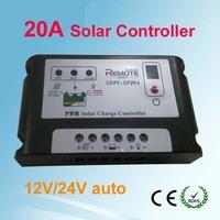pwm solar system controller,20a 12v 24v solar controller