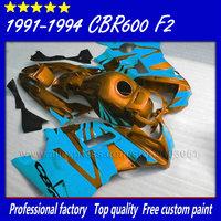 Customize ABS motorcycle fairing bodyworks for Honda 91 92 93 94 CBR 600 F2 CBR600 F2 1992 1993 1991 1994 CBR600F2 fairngs parts