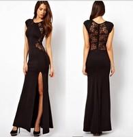 Hot spring summer 2015 long dress Split dress lace dress sexy YX-201