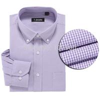 Fashion Brand Modal Oxford Long Sleeve Plaid Men Casual Shirts Spring Autumn Male Dress Shirts Business Social Shirts Plus Size