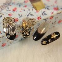Distinctive bridal gold false nails art decoration,woman false nails manicure art ornament display,4.20811.Free shipping