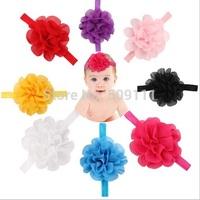 Girl's Head Accessories hairband Baby Headwear flower princess headbands elastic flower hairband free shipping  10pcs HB147