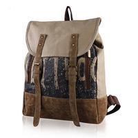 Factory sale women's vintage backpacks lady fashion casual backpacks shoulder bag canvas travel bag schoolbags