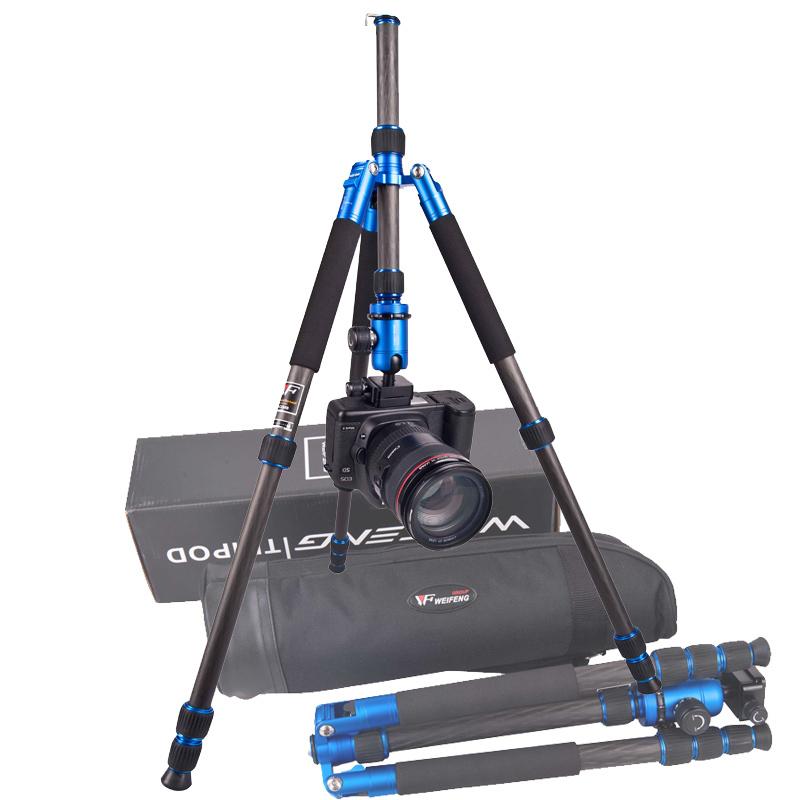 WeiFeng HJ-C224Bs Pro Carbon Fiber Camera Tripod Flexible Monopod Tripod Bag 4 Section Max Loading 8kg DHL Free Shipping(China (Mainland))