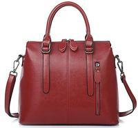 2015 new Genuine leather handbags, wax classic fashion wild portable shoulder, Messenger bag