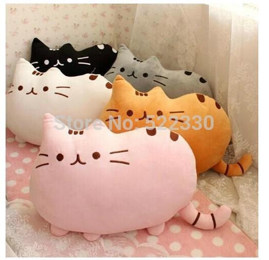 Novelty Soft Plush Stuffed Animal Doll Talking Anime Toy Pusheen cat pillow for Girl Kid Cute Cushion brinquedos 40*30(China (Mainland))