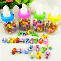 Cartoon bottle rubber digital rubber eraser 28pieces gold hold small gifts other