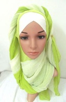 tc326 new 2015 two layers two tone silk muslim hijab,islamic long scarf free shipping,fast delivery,assorted colors