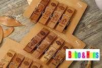 New 4 pcs/set simple life image style II clip set / wooden clip peg / (dark color)  /Wholesale