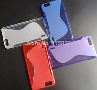 High Quality Black Soft TPU Gel S line Skin Cover Case For Huawei Honor 6 Plus 6X Free Shipping FEDEX DHL EMS CPAM SGPAM