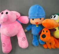 4pcs/lot Bandai Cartoon Stuffed Animals & Plush Toys Hobbies Loula & Elly & Pato & Pocoyo Plush Toys Doll For Children Kids
