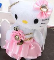 2015 Freeshipping sitting height 13cm hello kitty plush toys cartoon hello kitty toy doll for children 2-10yrs KT151