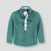 Free Shipping 2015 Spring Kids Brand Casual Polka Dot Children Shirts Cotton Dress Shirts For Boy's Shirts vestidos