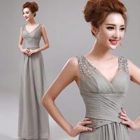 Grey dinner banquet evening dress formal dress A3862#