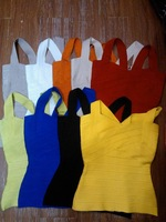 wholesale 2015 New fashion many colors sexy cute strap women bodycon Bandage bustier tank crop tops