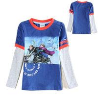 2015 New Design Boys Kristoff T-shirt Tops Tees Baby 100% Cotton t-shirts Kids Olaf Printed tshirts Children Cartoon Clothing