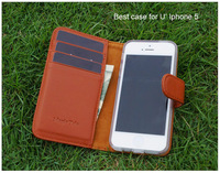 10% off New Arrivle 100% Genuine Leather Wallet For Iphone 5 5s 5g Phone Fashion Case Luxury case cover for iphone 5 Accessories