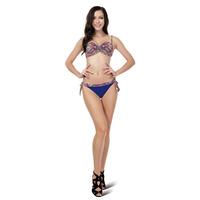M-XL Paisley Print and Studded Sequin Swimwear Women Bathing Suit wtih Crystal Padded Bikini 2015 New