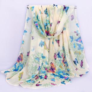 Butterfly Ladies Scarves 2015 Bohemia Fashion Style Silk Chiffon Scarf Womens Scarfs Viscose Satin Scarves(China (Mainland))