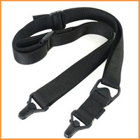 Free shipping 50pcs Quick Release 2-point Tactical Rifle Gun Sling Strap Lanyard Hook For Airsoft Black