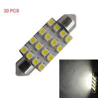 Details about 20PCS 16LED 16 LED 3528-SMD 42mm Festoon Lamp Light Bulb for Car Dome