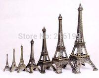 Hot Sale 7PCS 10cm 13 15 18 25 32cm 38cm Metal Eiffel Tower Statues Souvenir 1Set