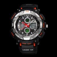 high quality 100% PU plastic New sports style 30m waterproof dual japan quartz digital movement couple lover wrist ohsen watch