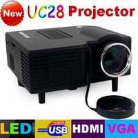 High Quality UC28 with HDMI Mini Micro AV LED Digital Video Game Projectors Multimedia Player Inputs AV VGA USB SD Free Shipping