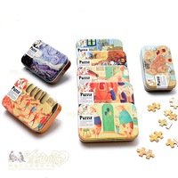 uncle  wood wool puzzle jigsaw puzzle toy tin 60p