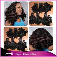Top 7A Grade 3pcs/lot #1b original russian boom curls virgin peruvian aunty funmi hair weaves for nigeria free shipping