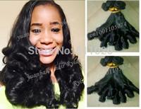 Hot selling!7A quality 1b# 3pcs/lot brazilian virgin hair unprocessed bouncy curl funmi hair for women free shipping