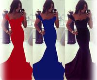 Fashion Royal Blue Short Sleeve Maxi Long Casual Formal Evening Party Dresses 2015 Hot Sale Vestidos Dress