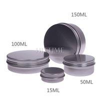 4pcs 15/50/100/150ML Aluminium Empty Nail Art Cream Lip Balm Lip Gloss Lipstick Cosmetic Containers Bottles #V00792
